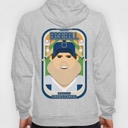 Baseball Blue Pinstripes - Rhubarb Pitchbatter - Bob version Hoody