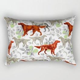 IRISH SETTERS & GREEN CLOVER Rectangular Pillow