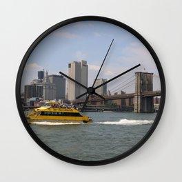 A Classic New York Scene Wall Clock