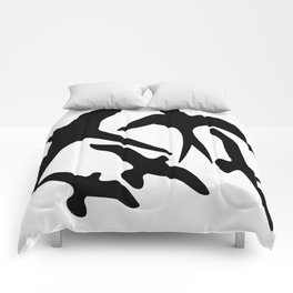 Birder Silhouette Swallow Swift and Seagulls Comforters