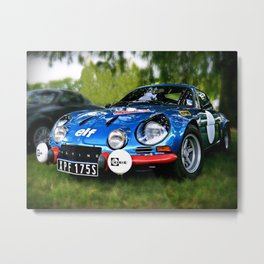 "The Alpine A110 ""Berlinette"" Metal Print"