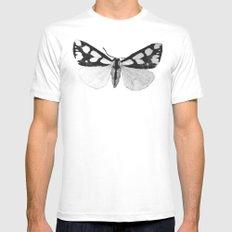 Moth Wings White Mens Fitted Tee MEDIUM