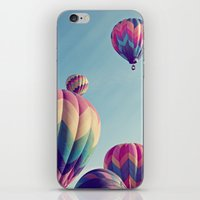 nietzsche iPhone & iPod Skins featuring the higher we soar by shannonblue