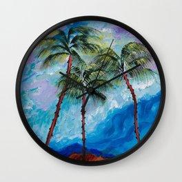 Three Palms Wall Clock