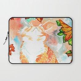 Autumn Magic Cat  Laptop Sleeve