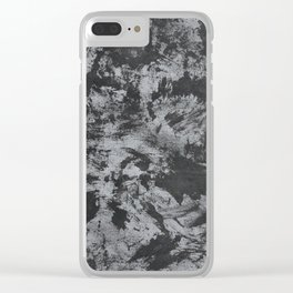 Black Ink on Grey/Gray Background Clear iPhone Case