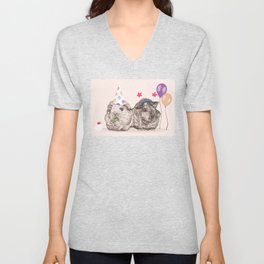 Guinea Pigs Just Want To Party Unisex V-Neck