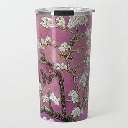 Vincent van Gogh Blossoming Almond Tree (Almond Blossoms) Fuchsia Sky Travel Mug