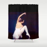 ballerina Shower Curtains featuring Ballerina by Just Art