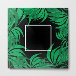 Square Leaf Metal Print