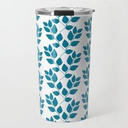 turquoise tree twig pattern Travel Mug