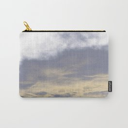 WHITE & BLUE & GOLD TOUCHING #1 #abstract #decor #art #society6 Carry-All Pouch