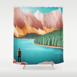 DREAM VACATION / Alberta, Canada Shower Curtain