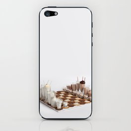 Cookies and Milk Chess Set iPhone Skin