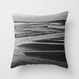 DARK DANISH AMBIENT BEACH Throw Pillow