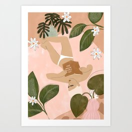 Life Is Better Without Bra Art Print