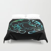 zodiac Duvet Covers featuring Tiger zodiac by Julie Luke