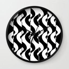 OpArt Waves Wall Clock