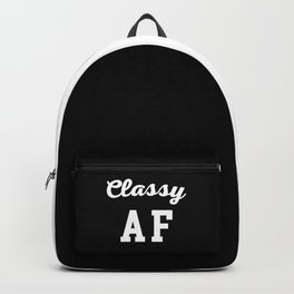 Classy AF Funny Quote Backpack