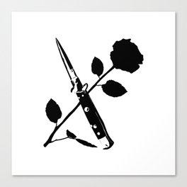 Switchblade Rose Canvas Print