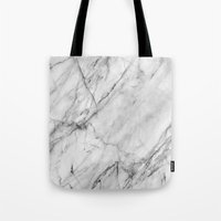 xbox Tote Bags featuring Marble by Patterns and Textures
