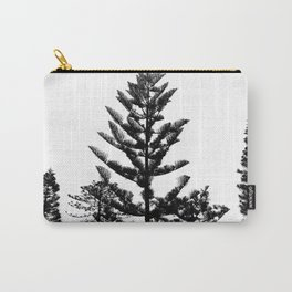 Black and white trees Carry-All Pouch