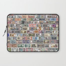 Vintage banknotes from all over the world collage Laptop Sleeve