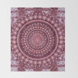 Boho Rosewood Mandala Throw Blanket