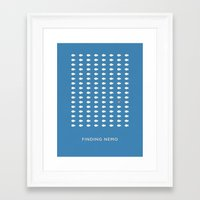 finding nemo Framed Art Prints featuring Finding Nemo by Aaron Johnson Design