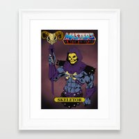 skeletor Framed Art Prints featuring Skeletor by W. Keith Patrick
