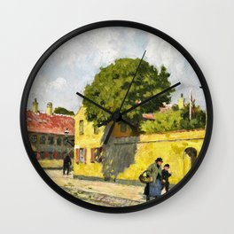 Paul Gustav Fischer - View From Nyboder - Digital Remastered Edition Wall Clock
