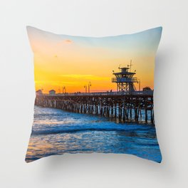 San Clemente Pier California United States Ultra HD Throw Pillow