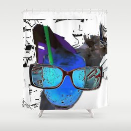 series drink - glasses drink Shower Curtain