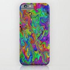 Atomic rainbow splash iPhone 6s Slim Case