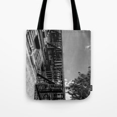 fire escape - building in manhattan, nyc Tote Bag