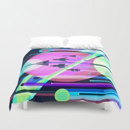The Grand Tour : Vintage Space Poster Cool Duvet Cover