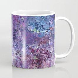 Violet Drops Abstraction Coffee Mug