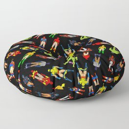 Superhero Butts Pattern (Dark) Floor Pillow