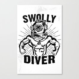 Swolly Diver Canvas Print