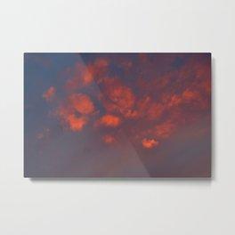 Red clouds shining at sunset Metal Print