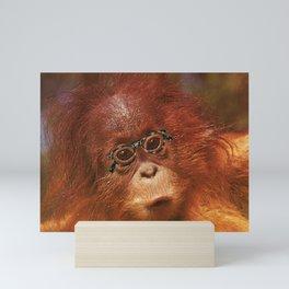 Monkey Four Eyes Mini Art Print