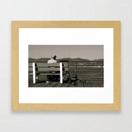 Los Angeles Pier Framed Art Print