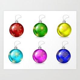 Christmas ball collection Art Print