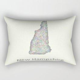 New Hampshire map Rectangular Pillow