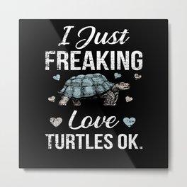 Turtle Animal Lover Metal Print