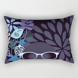 Afro Diva : Lavender Periwinkle Rectangular Pillow