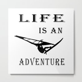 Life is an adventure Poster, Surf art, Gift for surfers Metal Print