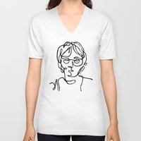 john snow V-neck T-shirts featuring John by ersp