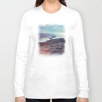 salt water Long Sleeve T-shirts featuring Salt Water by Viviana Gonzalez