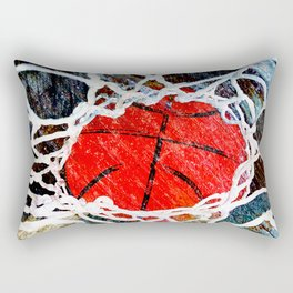 Basketball and net vs 4 Rectangular Pillow